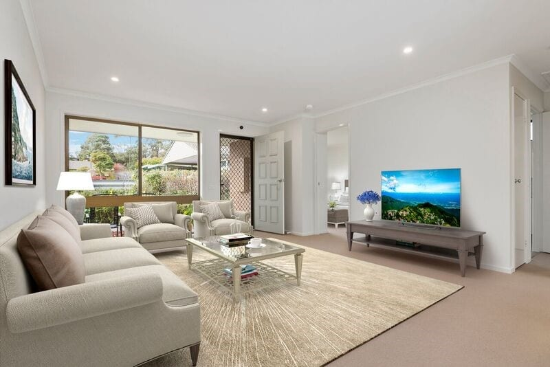 Forest Hill retirement village unit - lounge room