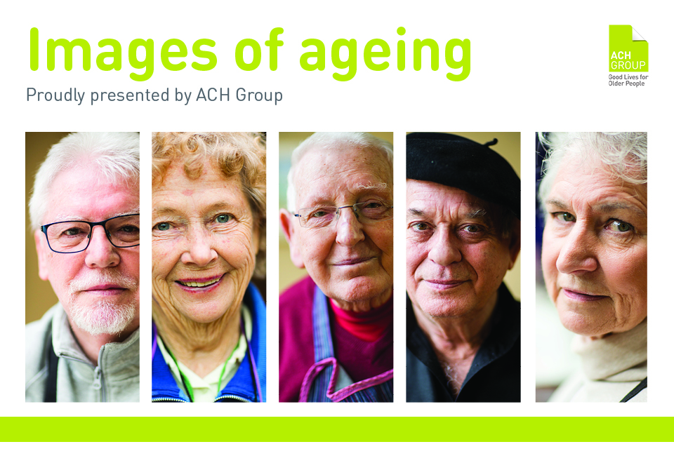 Web news page banner - images of ageing