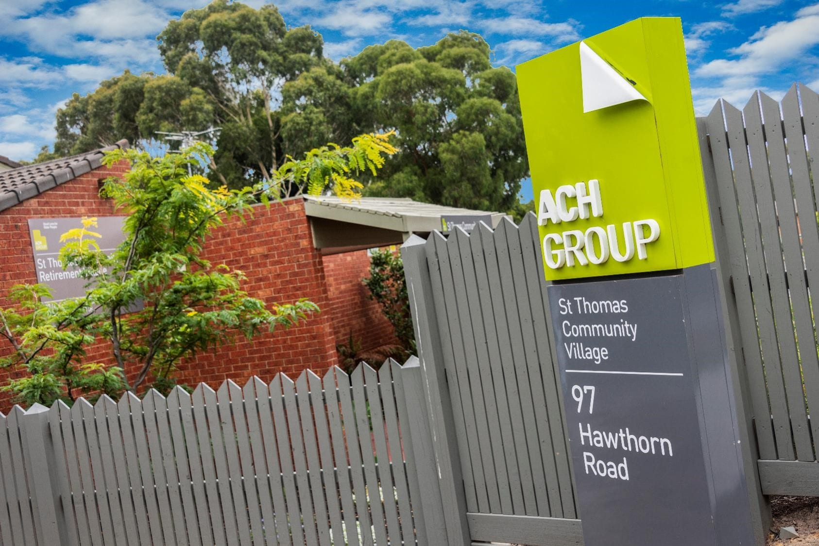 Entrance to St Thomas ACH Group Sign