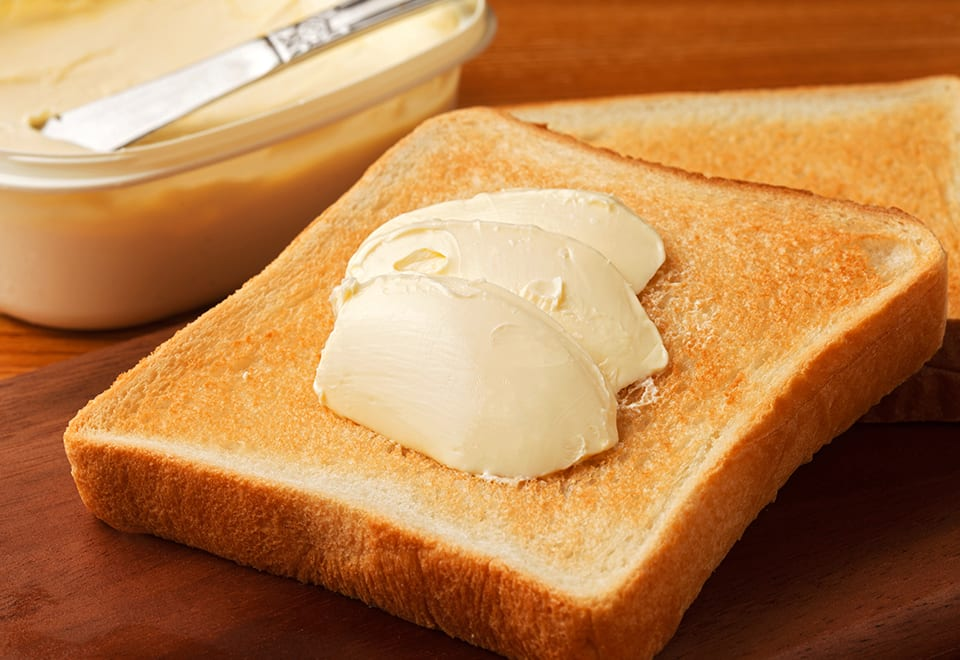 Cut back on butter and margarine to help reduce the risk of dementia