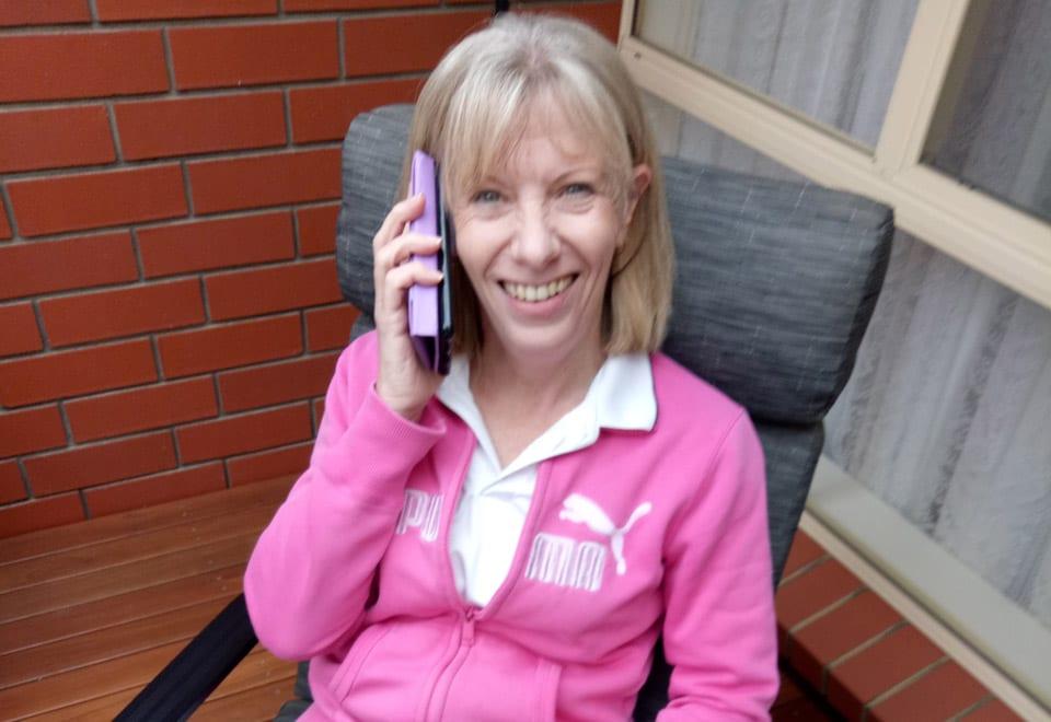 Nicki Dawson volunteer at Highercombe