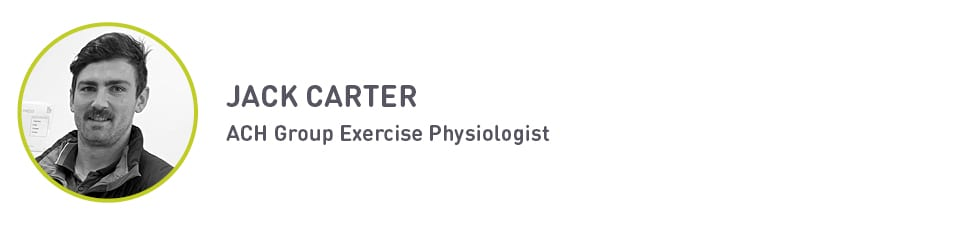 ACH Group exercise physiologist Jack Carter