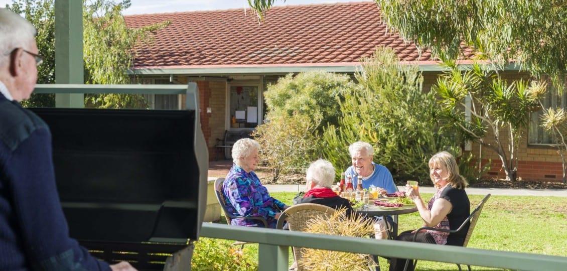 Glenelg nursing home outdoor garden