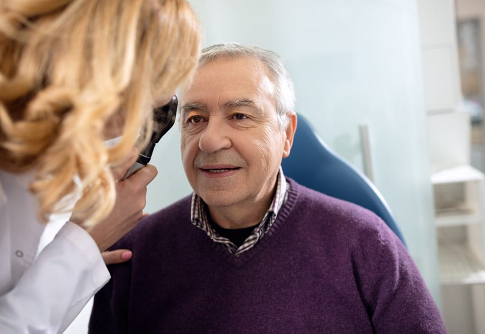 Having an eye test is one of many ways to prevent falls in older people