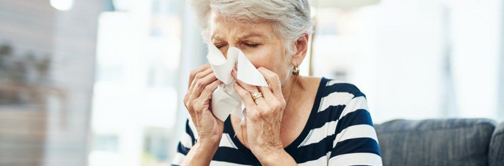 Spring hay fever tips for older people