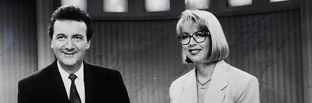 Graeme Goodings in the 90s as TV presenter