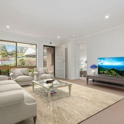 Forest Hill retirement village unit - lounge room