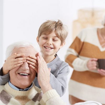 retired couple with grandkid