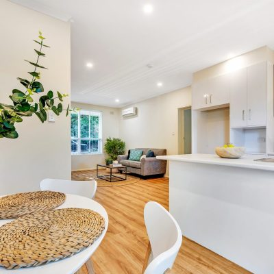 lounge room at Magill retirement housing unit in adelaide