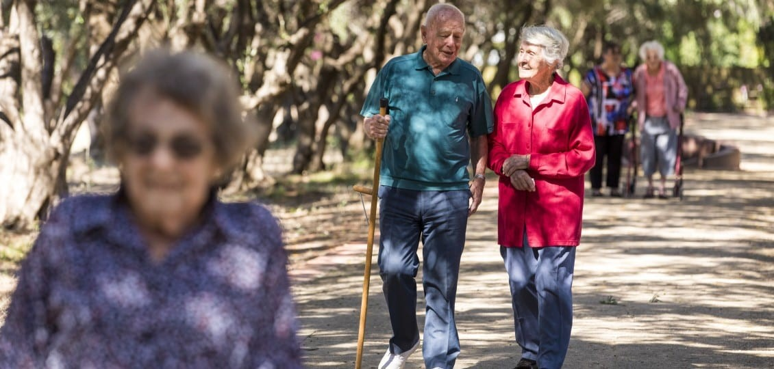 hiking at mclarenvale retirement home