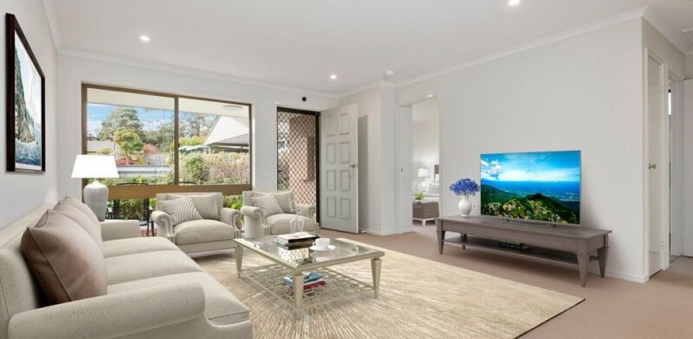 Forest Hill retirement living unit lounge room