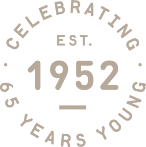 ach group 65 years young celebration badge