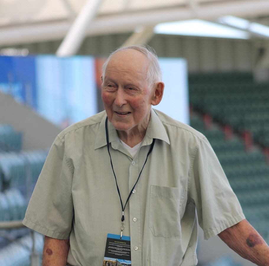 Charles Nicholson on Adelaide Oval tour
