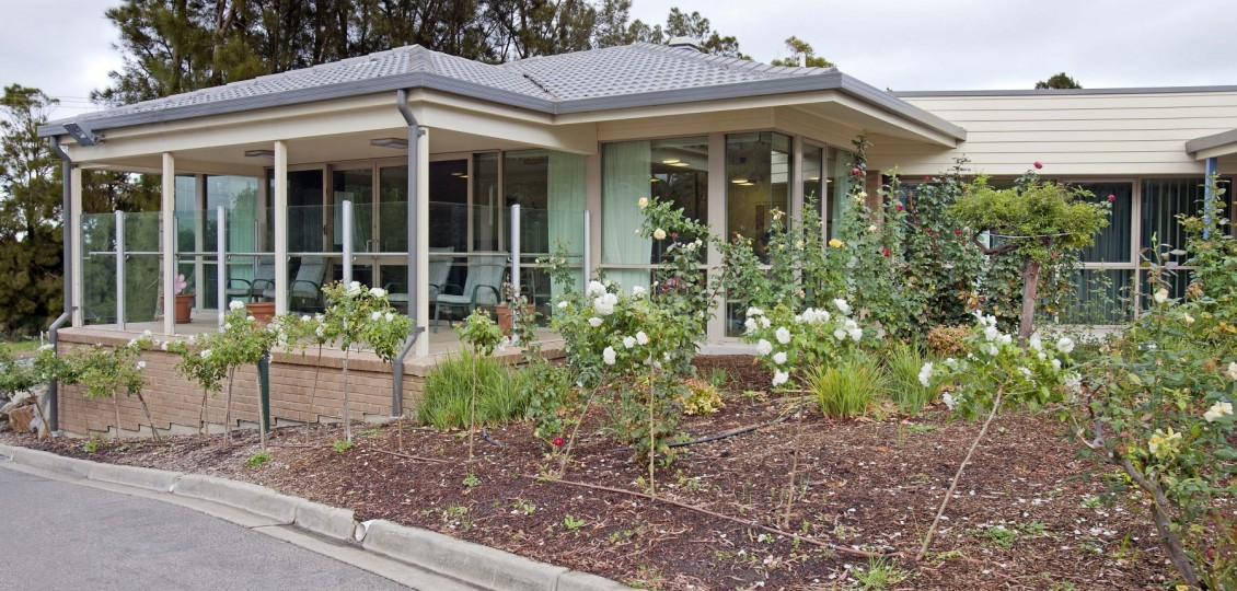 front view and garden - ach group retirement living unit