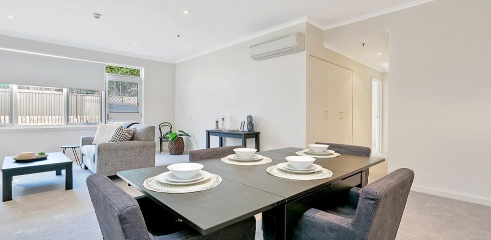 glenelg retirement living unit dining table