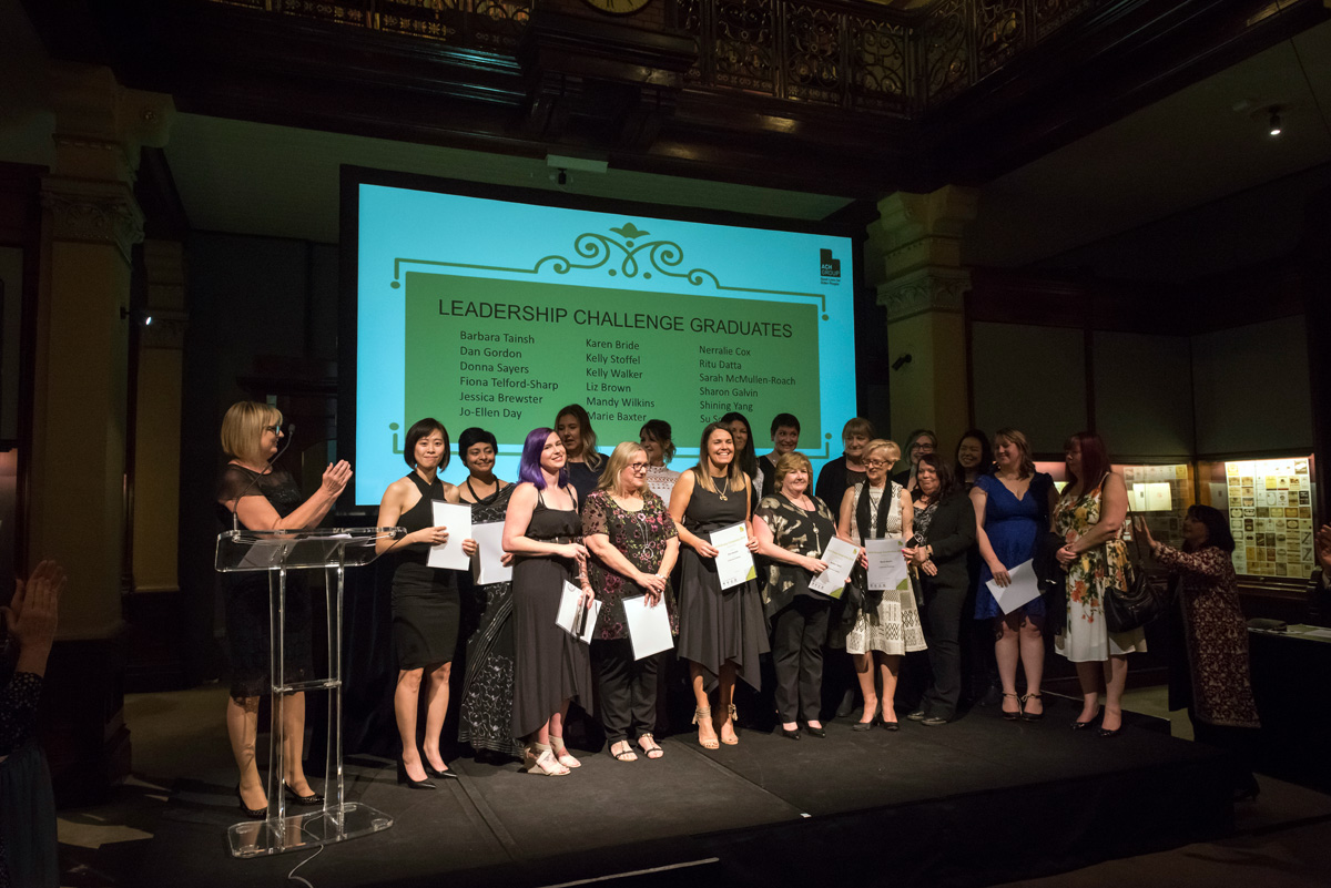 leadership challenge graduates at the ACH Group awards night