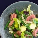 lamb and asparagus nicoise salad