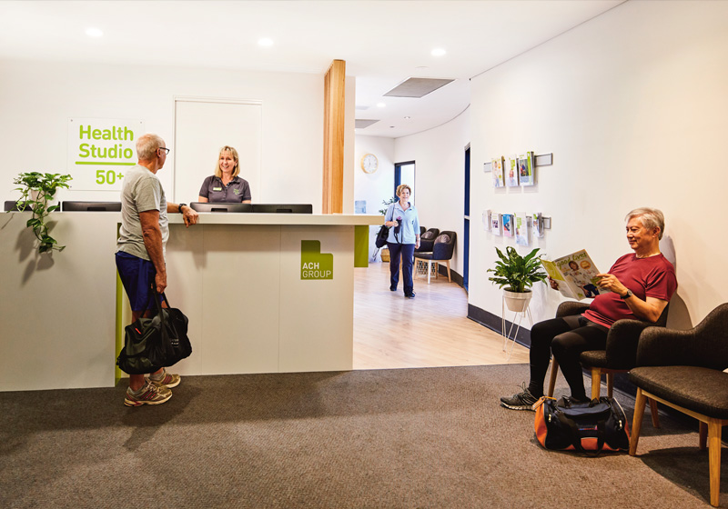 ACH health studio 50  in Glenelg lobby