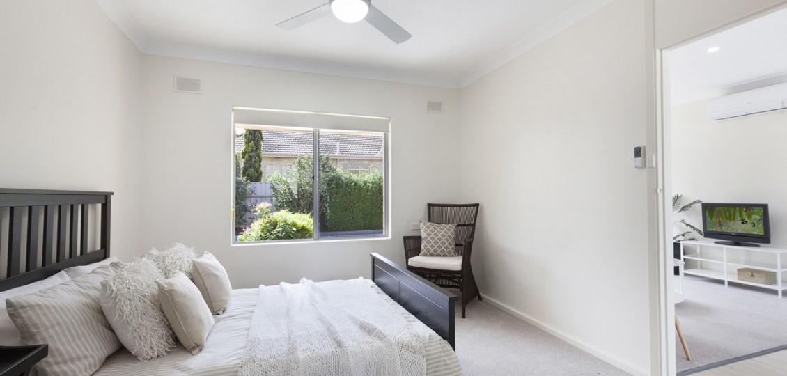 Campbelltown retirement living unit bedroom