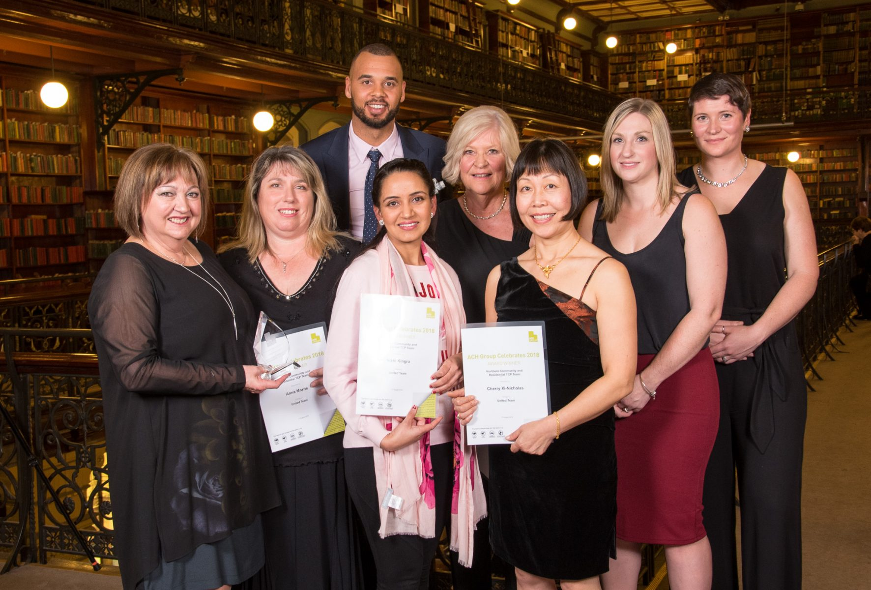 attendees and award recipients at the ACH Group awards night