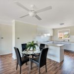 Morphett Vale retirement living unit lounge room with ceiling fan