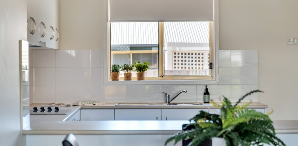 Morphett Vale retirement living unit lounge room overlooking kitchen