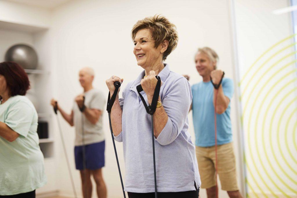 older people enjoying Free Exercise Classes at ach 50+ studio