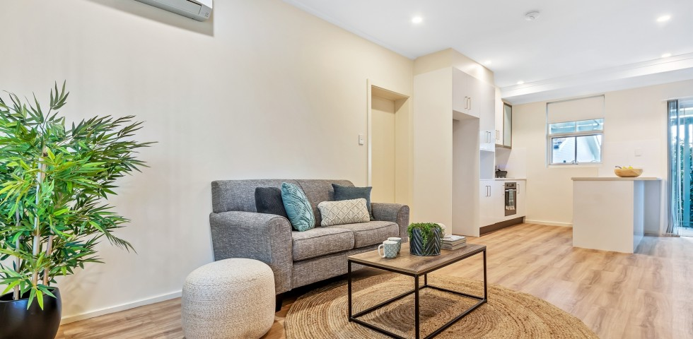 Magill retirement living unit 2 lounge room