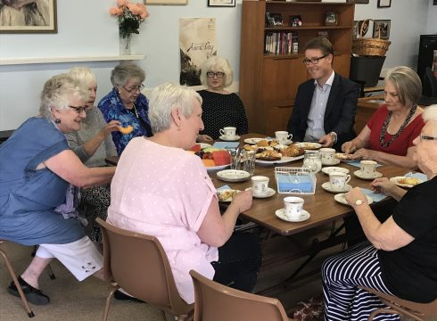 older people enjoying lunch at ach care home facility