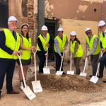 sod turning ceremony at spence on light