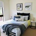 Forest Hill retirement village unit - bedroom view