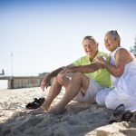 older residents at adelaide retirement village unit at nearby glenelg beach