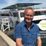 National Volunteers Week 2019 volunteer in front of boat