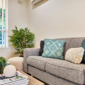 morphett vale retirement living unit lounge room with couch