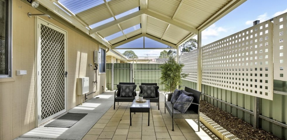 magill retirement living unit covered outdoor area