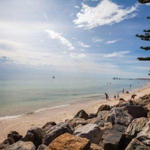 beach scene near ACH Group glenelg retirement living units