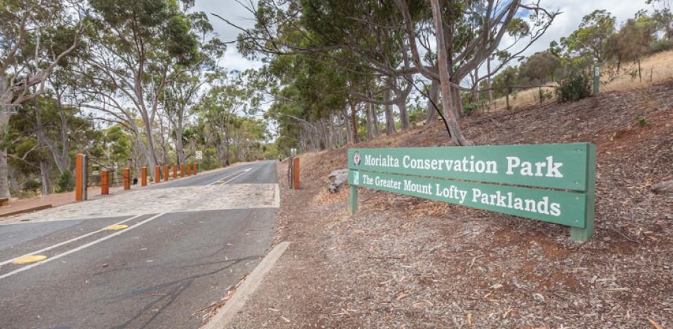 Morialta park entry sign