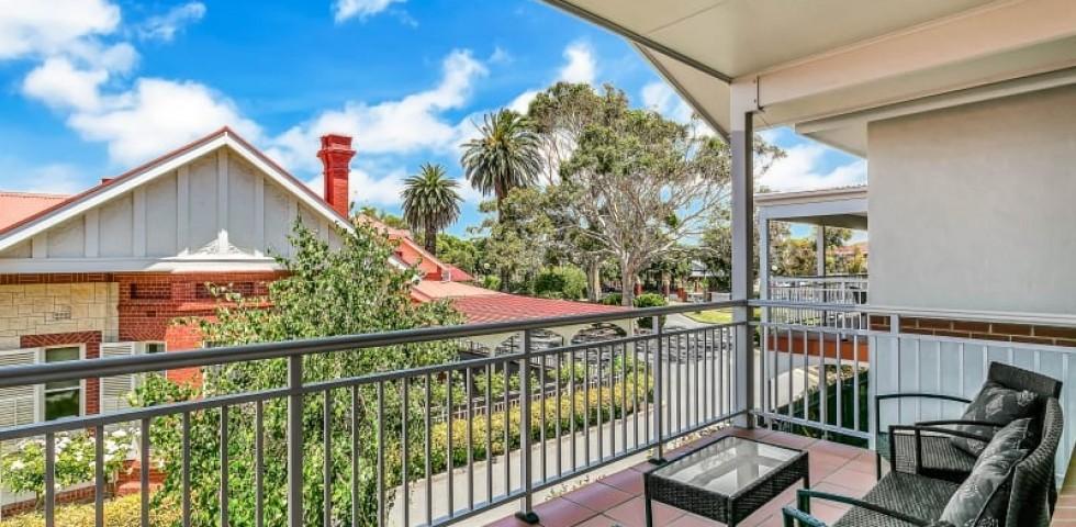 Glenelg retirement living unit balcony