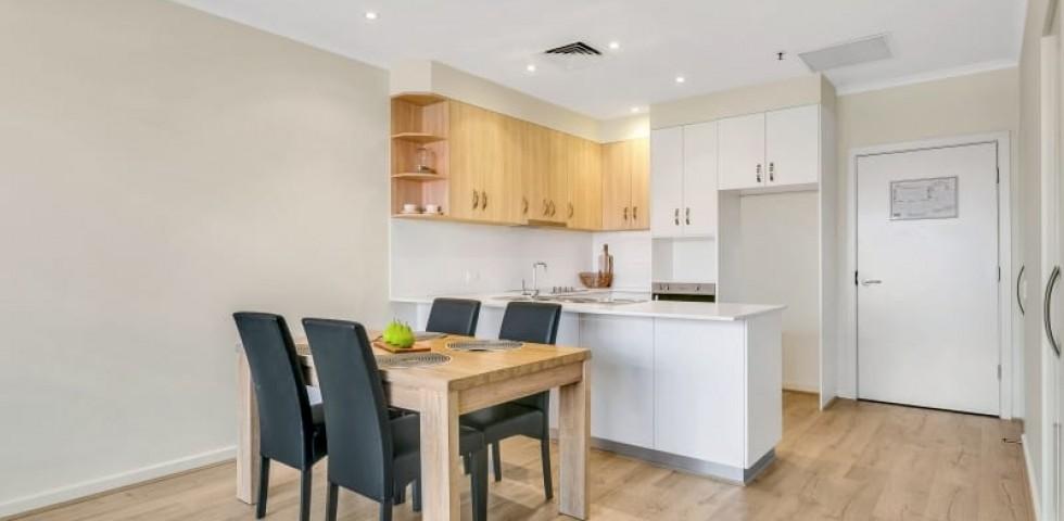 Glenelg retirement living unit dining area
