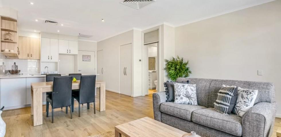 Glenelg retirement living unit lounge room