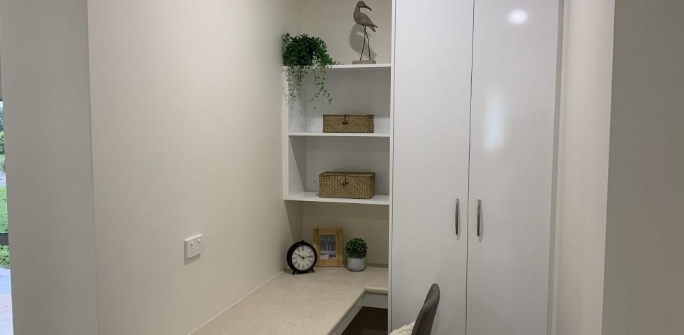 study and storage area