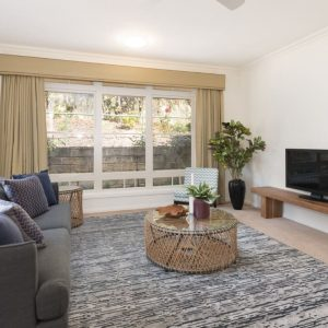 box hill retirement living unit lounge room