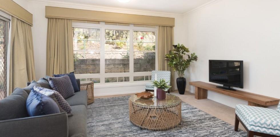 box hill retirement living unit lounge room