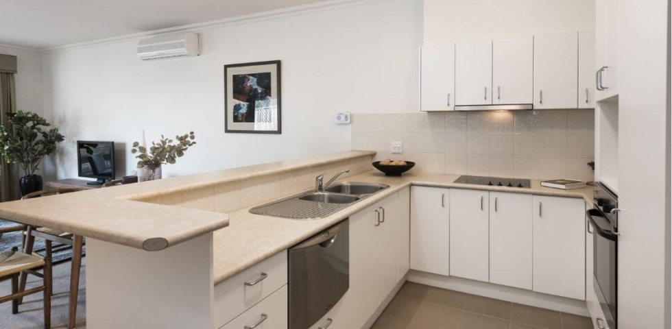box hill retirement living unit kitchen