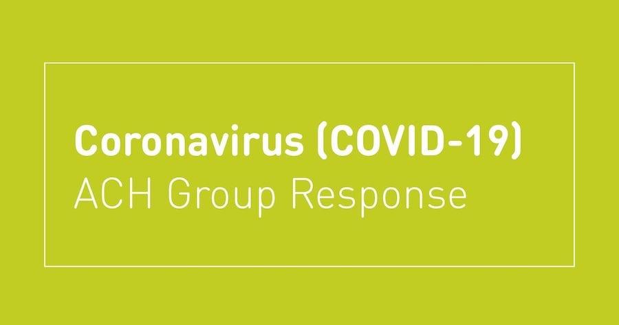 ach covid response graphic