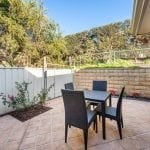Rear private courtyard