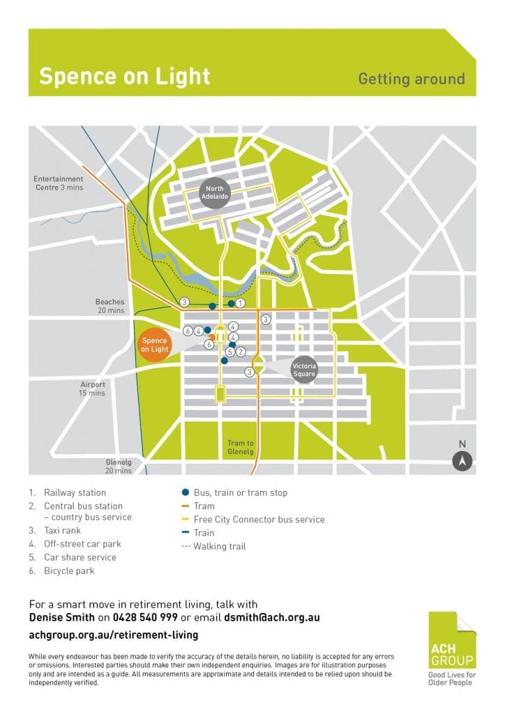 Spence on Light Public Transport Map