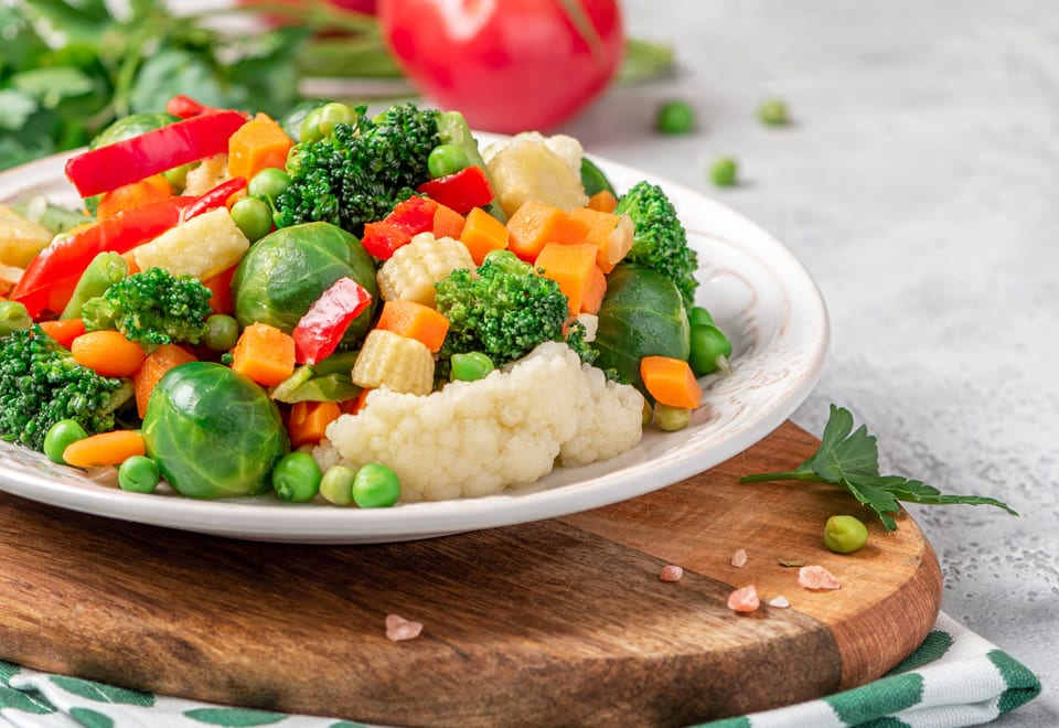Keep your vegetables intake for a healthy diet during the holiday