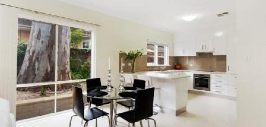 Kensington Gardens retirement living dining space