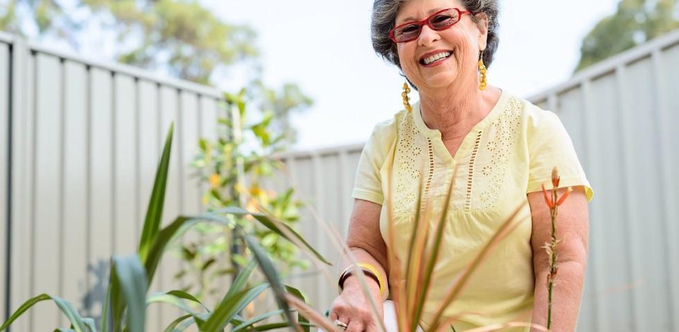 Woman enjoying her retirement living life